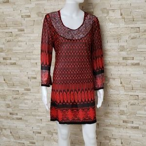 Red Tunic or Dress with Stone Embellishments NWT